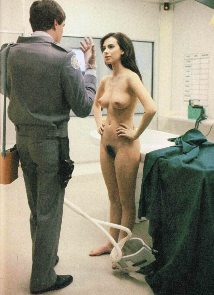 Mathilda May behind the scenes in Lifeforce 1985 from Celebs - Cebbit